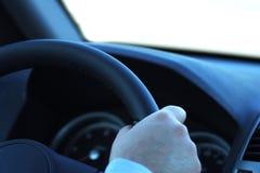 ostrożny kierowca Zdjęcia Stock