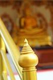 Ostro protestować - Złota świątynia w Tajlandia Zdjęcia Royalty Free