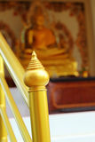 Ostro protestować - Złota świątynia w Tajlandia Fotografia Stock