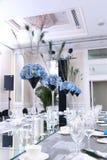 ostrości szkieł stołowy ślub Fotografia Royalty Free