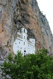 Ostrog is an active Serbian Orthodox monastery in Montenegro. Located in the mountains 15 km from the city of Danilovgrad, at an altitude of about 900 m above royalty free stock photography