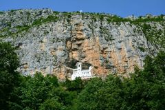 Ostrog monaster Montenegro zdjęcia royalty free