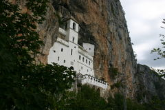 Ostrog Monastery. In the cliffs Royalty Free Stock Image