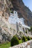 Ostrog monastery in Montenegro - St. Vasilije Ostroski, upper church Royalty Free Stock Photography
