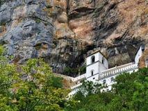 The Ostrog monastery - valley of Bjelopavlici stock photo