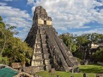 Ostrosłup Jaguar w obywatelu najwięcej znacząco Majskiego miasta Tikal park, Gwatemala obraz royalty free