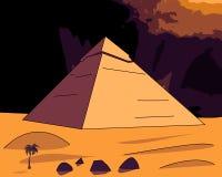 Ostrosłupy Egipt ilustracja wektor
