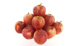 Ostrosłup czerwieni jabłka zdjęcie royalty free