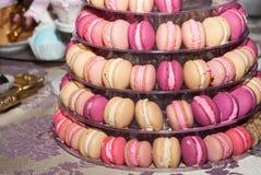 Ostrosłup Macarons Zdjęcia Royalty Free