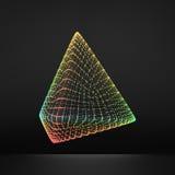 ostrosłup Miarowy czworościan Platoniczna bryła Stały bywalec, Wypukły wielościan 3D Podłączeniowa struktura Kratownica Geometryc royalty ilustracja