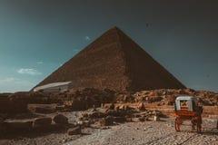 ostrosłup, niebo, Egipt, podróż historyczna, stary, skały, budowa, obraz royalty free