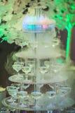 Ostrosłup różowy szampan Zdjęcia Stock