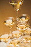Ostrosłup szkła szampan Obrazy Stock