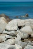 ostrosłupa nadmorski kamień zdjęcie royalty free