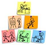 Ostrosłupowa ilustracja wielo- równy marketingowy pojęcie Obrazy Stock