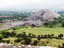Ostrosłupy Teotihuacan Meksyk Fotografia Royalty Free