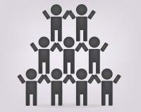 Ostrosłupy zespalają się ikonę wektor drużynowa ikony sztuki sieci loga praca zespołowa, ludzie, jednostka Fotografia Stock