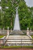 Ostrosłup fontanna, Peterhof, Rosja Obraz Royalty Free