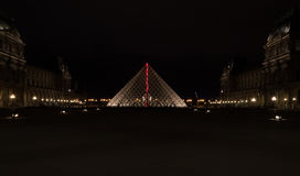 Ostrosłup Louvre Zdjęcie Stock