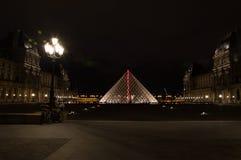 Ostrosłup Louvre Obraz Stock