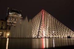 Ostrosłup Louvre Fotografia Royalty Free