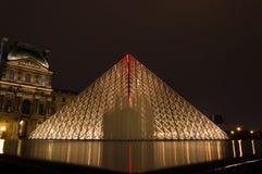 Ostrosłup Louvre Zdjęcie Royalty Free