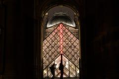 Ostrosłup Louvre Obrazy Royalty Free