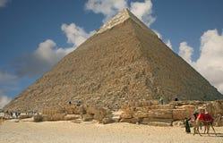 Ostrosłup przy Giza obraz royalty free