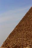 Ostrosłup w pustyni Egipt w Giza Zdjęcia Stock