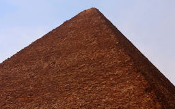 Ostrosłup w pustyni Egipt w Giza Zdjęcia Royalty Free