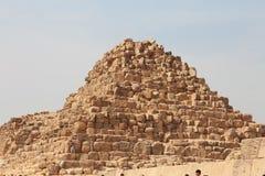 Ostrosłupy W pustyni Egipt Giza Obrazy Royalty Free