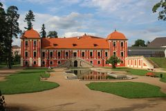 Ostrov slott Royaltyfria Bilder