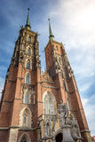 Ostrow tumski cathedral church in Wroclaw Royalty Free Stock Images