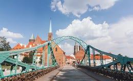 Ostrow Tumski en el Wroclaw, Polonia Fotos de archivo