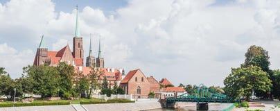 Ostrow Tumski en el Wroclaw, Polonia Imagenes de archivo
