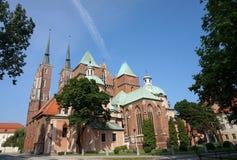Ostrow Tumski en la isla de la catedral de Wroclaw en Polonia fotografía de archivo