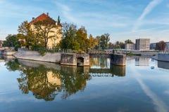 Ostrow Tumski, historisch district van Wroclaw stock foto