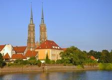 Ostrow Tumski im Wroclaw. Breslau in Polen. Stockbilder