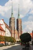 Ostrow Tumski im Wroclaw, Polen Lizenzfreie Stockfotografie