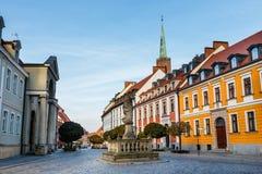 Ostrow Tumski, secteur historique de Wroclaw photographie stock libre de droits