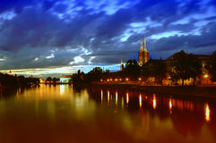 Ostrow Tumski in Wroclaw. Poland stock photography