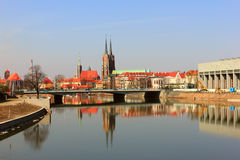 Ostrow tumski in wroclaw Stock Photo