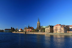 Ostrow tumski, wroclaw, poland Royalty Free Stock Photography