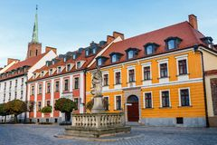 Ostrow Tumski, Wroclaw, Poland. Ostrow Tumski is a historic district of Wroclaw, Poland royalty free stock photos