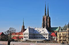 Ostrow tumski, wroclaw, poland royalty free stock images