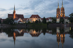Ostrow tumsky wroclaw poland europe Stock Photos