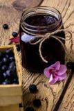 Ostruzione casalinga del mirtillo Idea di ricetta Fotografie Stock Libere da Diritti
