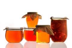 Ostruzione e marmellata d'arance della cotogna Fotografia Stock