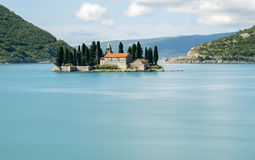 Ostrvo Sveti Đorđe or Island of St George in Montenegro Royalty Free Stock Photography