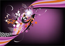 ostry graficzny purpurowy retro Obrazy Royalty Free